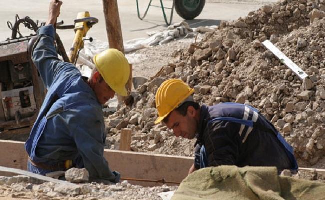 lavoratori lapidei escavazione all'opera