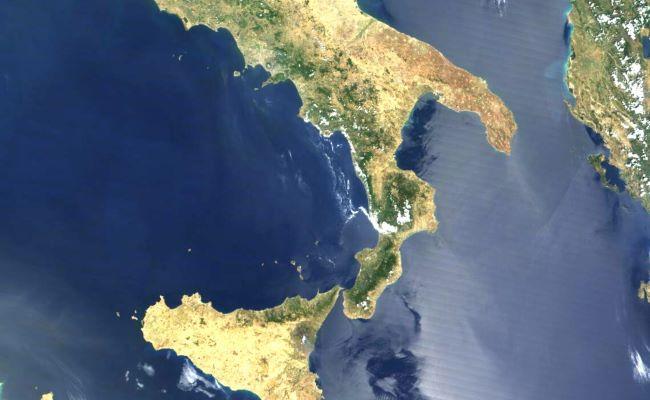 mappa satellitare sud italia