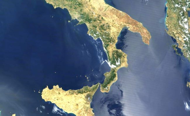 mappa sud italia