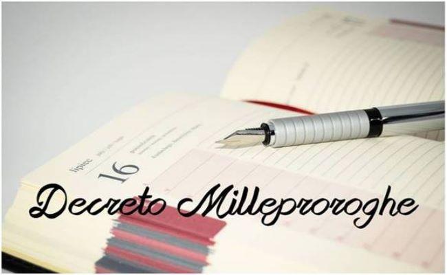 decreto milleproroghe