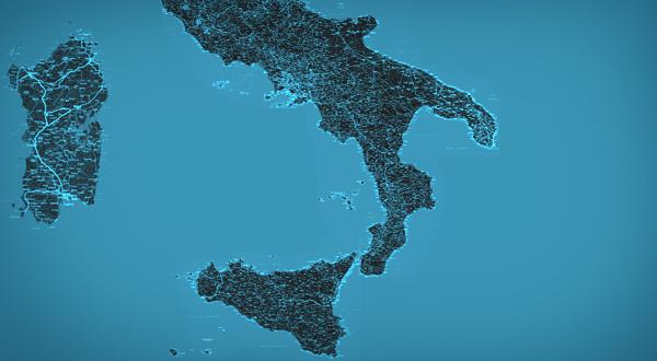 mappa satellitare mezzogiorno