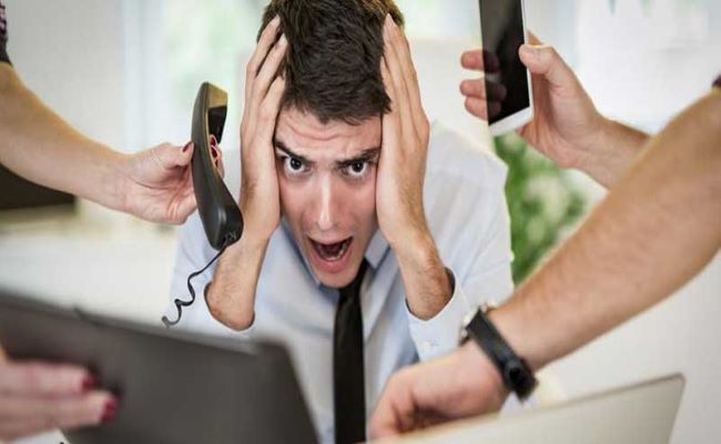 lavoratore stressato