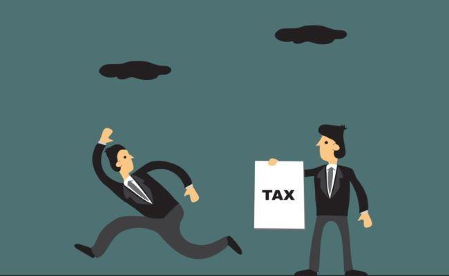 contribuente in fuga dall'esattore delle tasse